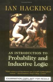 Cover of: An Introduction to Probability and Inductive Logic Desk Examination Edition