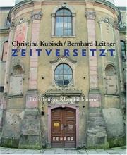 Cover of: Zeitversetzt/ Shifted in Time: Ettersburger Klangbildraume/ Ettersburg Sound Spaces
