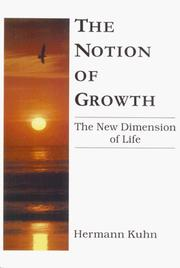 Cover of: The Notion of Growth
