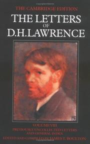 Cover of: The Letters of D. H. Lawrence