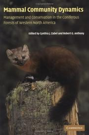 Cover of: Mammal Community Dynamics |