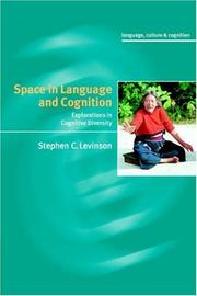 Cover of: Space in language and cognition