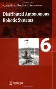 Cover of: Distributed autonomous robotic system 6 |
