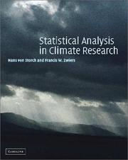 Cover of: Statistical analysis in climate research