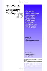 Cover of: Continuity and Innovation