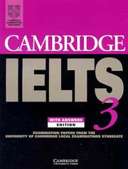 Cover of: Cambridge IELTS 3 Students Book with Answers