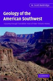 Cover of: Geology of the American Southwest | W. Scott Baldridge