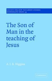 Cover of: The Son of Man in the Teaching of Jesus