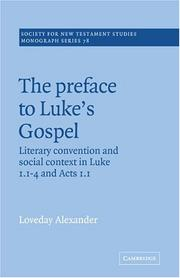 Cover of: The Preface to Luke