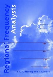 Cover of: Regional Frequency Analysis | J. R. M. Hosking