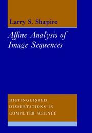 Cover of: Affine Analysis of Image Sequences (Distinguished Dissertations in Computer Science)