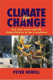 Cover of: Climate for Change | Peter Newell