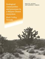 Cover of: Ecological Communities and Processes in a Mojave Desert Ecosystem | Philip W. Rundel