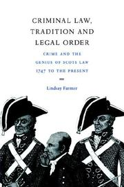 Cover of: Criminal law, tradition, and legal order