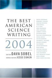 Cover of: The Best American Science Writing 2004 (Best American Science Writing) by Dava Sobel
