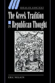 Cover of: The Greek Tradition in Republican Thought (Ideas in Context)