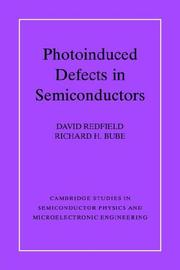 Cover of: Photoinduced defects in semiconductors |