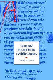 Cover of: Texts and the Self in the Twelfth Century