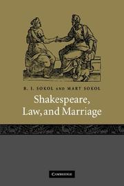 Cover of: Shakespeare, law, and marriage