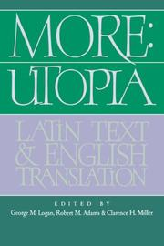 Cover of: More: Utopia: Latin Text and English Translation