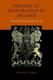 Cover of: Prelude to Restoration in Ireland