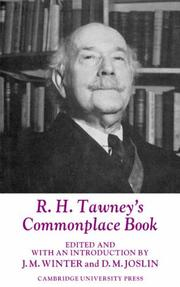Cover of: R. H. Tawney