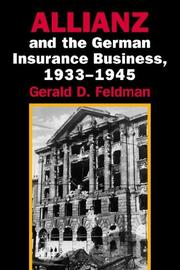 Cover of: Allianz and the German Insurance Business, 19331945