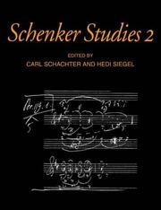 Cover of: Schenker studies 2 by
