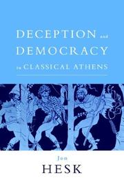 Cover of: Deception and Democracy in Classical Athens | Jon Hesk