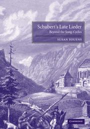 Cover of: Schubert's Late Lieder