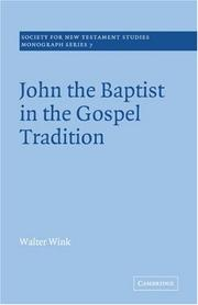 Cover of: John the Baptist in the Gospel Tradition