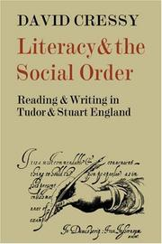 Cover of: Literacy and the social order