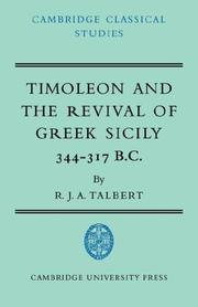 Cover of: Timoleon and the Revival of Greek Sicily | R. J. A. Talbert