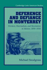Cover of: Deference and Defiance in Monterrey | Michael Snodgrass