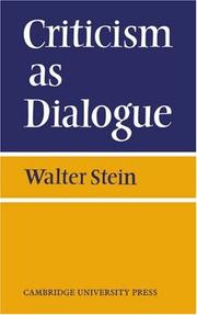 Criticism As Dialogue