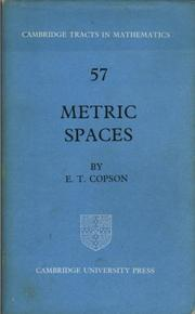 Cover of: Metric spaces