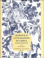 Cover of: Science and Civilisation in China, Vol. 1