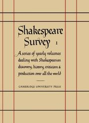 Cover of: Shakespeare Survey
