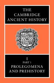 Cover of: The Cambridge Ancient History Volume 1, Part 1 |