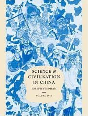 Cover of: Science & Civilisation in China Volume IV:3