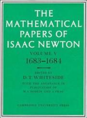 Cover of: The Mathematical Papers of Isaac Newton (The Mathematical Papers of Sir Isaac Newton)