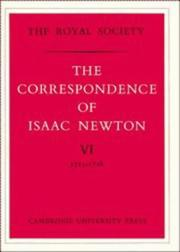 Cover of: Correspondence: Edited by H.W. Turnbull.