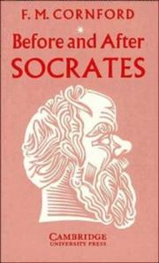 Cover of: Before and after Socrates. | Francis MacDonald Cornford