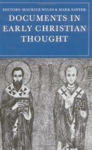 Cover of: Documents in early Christian thought