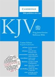 Cover of: KJV Cameo Reference Edition |