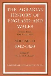The Agrarian History of England and Wales by