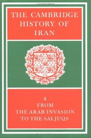 Cover of: The Cambridge History of Iran | Richard Nelson Frye
