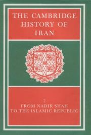 Cover of: The Cambridge History of Iran |