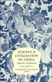 Cover of: Science and Civilisation in China, Vol. 5 Part 3 | Joseph Needham
