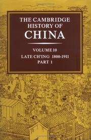 Cover of: The Cambridge history of China